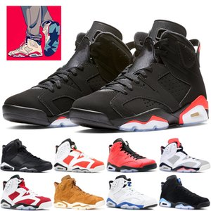 Wholesale Cheap Black Infrared s basketball shoes mens Tinker Hatfield Slam Dunk Carmine Oreo CNY UNC Designer sneakers US
