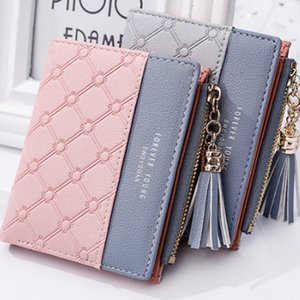 Wholesale 1PC Cute Wallet Women Coin Bag Leather Ladies Simple Bifold Small Purse