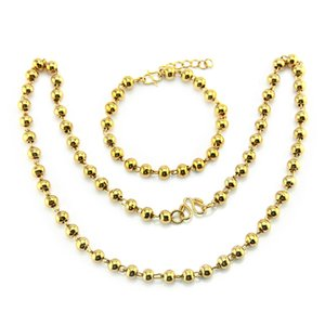Wholesale Male Ma am Bead Necklace Environmental Protection Copper Golden Simple And Easy Set Chain Trend Accessories Ornaments