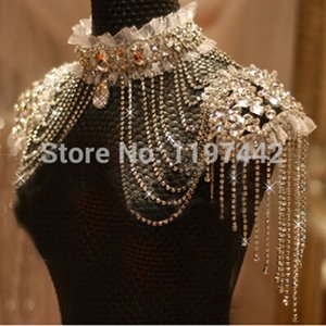 Wholesale Bridal Chain Tassel Shoulder Strap Bride Beads Lace Jewelry Crystal Accessories Jewellery Wedding Necklace Jewerly Sets C19021601