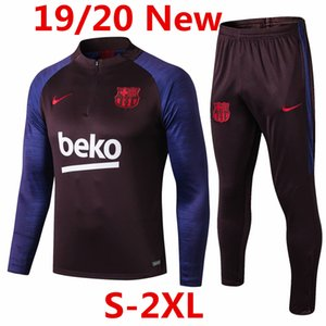 2019-20 Barcelona Messi Griezmann jacket Rakitic pre-match tracksuits soccer jerseys Suarez de Jong Football kits Dembele training shirt @96