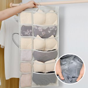Wholesale Hanging Closet Organizer Dual Sided Space Saving Storage Holder Bag with Pockets for Stockings Socks Underwear Jewelry Ties Underwear