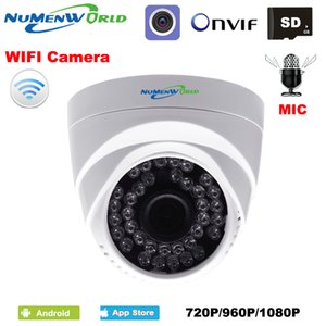 WIFI IP dome camera HD wireless Security CCTV webcam Built in Microphone SD card slot use for indoor support smartphone view WIFI