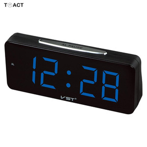 Wholesale Large Display Digital LED Alarm Clock Electronic Clocks Table Watch Desk Home Decor Luminova Modern Design Bedroom Home Decor