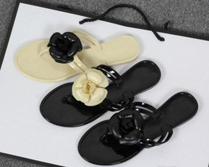 Wholesale NEW BRAND Summer women s floral slippers female s flip flops flowers slippers pvc sandals Camellia Jelly Shoes beach shoes Beach Shoes