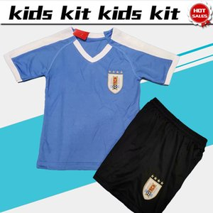 Wholesale Kids Kit Uruguay soccer Jersey home New season national football team Child uniforms Customized shirt with shorts