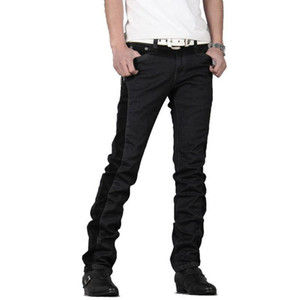 Wholesale Winter Mens Jeans Thicken Warm Male Fleece Denim Pants Cotton Black Long Pants Trousers Patchwork Jeans Men Clothes Nice