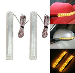 2x 12V LED Car Turn Signal Light Auto Rearview Mirror Indicator Lamp Bumper Strip Flashing Universal Yellow Light Source KKA6505