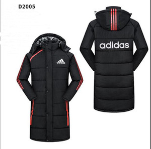 Wholesale 2019AD1DASFashion Mens Designer Jackets Winter Casual Hat Detachable Breathable Waterproof Ski Coat Mens Thick Warm Coat