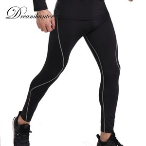 Wholesale compression leggings resale online - Fitness Casual Mens Compression Leggings Quick Drying Long Pants For Men Workout Joggers Sweatpants Male Track Pants S XL
