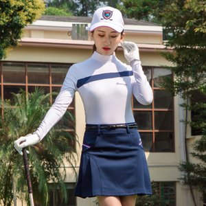 Women Golf Skirts High Waist Pleated Breathable Short Dress Ladies Anti-Light Safety Pantskirt Golf Apparel D0669 on Sale