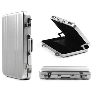 Wholesale OP Mini Aluminium Metal Password Briefcase Type Business Card case Bank ID Card Case