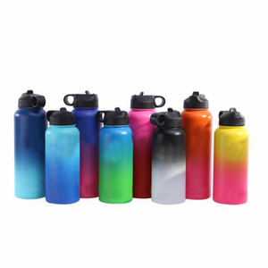 Wholesale Custom Logo oz oz Vacuum Water Bottle With Straw Lid Stainless Steel tumbler Travel Drink Mug Cup Hot sale