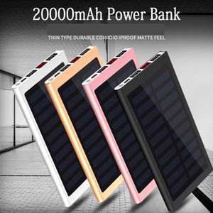 Wholesale Solar mah Power Bank External Battery USB LED Powerbank Portable Mobile phone Solar Charger for Xiaomi mi iphone XS plus