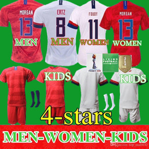 Wholesale Men Women Kids Soccer Christian Pulisic Jersey Alex Morgan Julie Ertz Megan Rapinoe Press Lloyd Heath Yedlin Dempsey Altidore Football Shirt