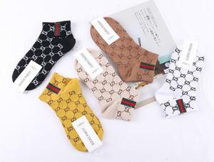 2019 new European and American style women boat newborn socks cotton letter short socks women socks