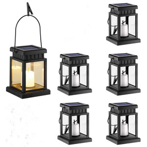 Wholesale 6 Pack Solar Hanging Lantern Outdoor Candle Effect Light with Stake for Garden Patio Lawn Deck Umbrella Tent Tree Yard Driveway