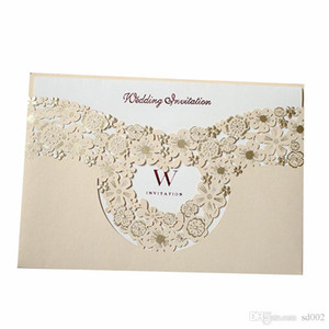 Wholesale Marry Invitation Card Hollowing Out Greeting Cards Gold Wedding Decorate Supplies Creative Photo Special Cardboard Hot Sales 1 7qyC1