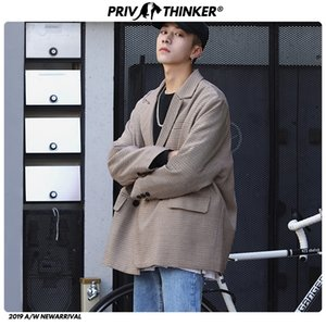 Wholesale Men Autumn Korean Streetwear Blazers Jacket Mens Harajuku Blazer Male Long Sleeve Blazer Loose Fashion Clothes