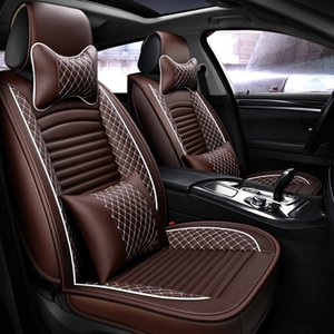 Brand PU Leather Car Seat Covers Universal Fit Most Car Covers Breathable Seat Protector Interior Luxury Automobiles Seat Cover on Sale