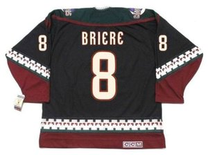 Custom DANIEL BRIERE Phoenix Coyotes 2001 CCM Vintage Turn Back Hockey Jersey Stitched Top-quality Any Name Any Number Goalie Cut on Sale