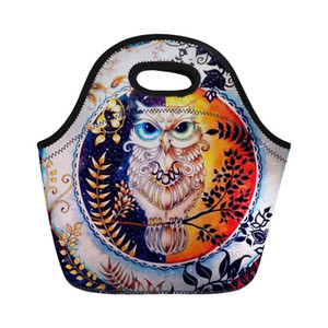 Wholesale Customized d Print Cartoon Owl Lunch Bags for Children Baby Portable Women Waterproof Thermal Bag Sac Lunch Box Casual