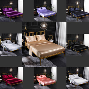Wholesale black ice machine resale online - 1 Designer Bed Quilt Luxury Bed Cover Extra Large Luxury Bedding Set Four Piece Set European and American Home Ice Silk Silk Satin Color