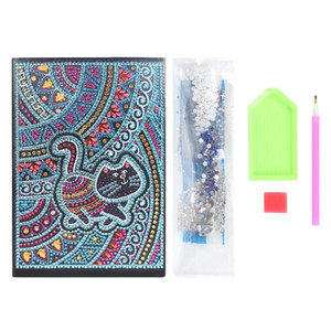 Wholesale diy note books for sale - Group buy DIY Special Shaped Diamond Painting Notebook Diary Book Pages A5 Notebook Embroidery Diamond Cross Stitch Note Book XMAS Gift