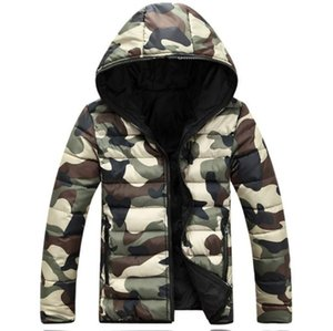 Wholesale Camouflage Colorful Designer Hooded Mens Coats Winter Thick Long Sleeve Mens Outerwear Two Sides Male Down