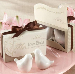 NEW Wedding Favor Love Bird Salt and Pepper Shaker Set Party Gift with Package Box 10 lots Wholesale