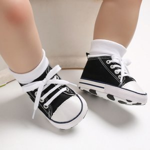 Wholesale New Canvas Infant Toddler Baby Sneakers Sport Shoes Newborn Baby Girls Boys Crib Shoes Soft Sole First Walkers Baby