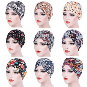 Wholesale Women s Baggy Slouchy Beanie Chemo Hat Scarf Pregnant Woman s Month Cap Warm Hat Multi Color Floral Flower Drop Shipping