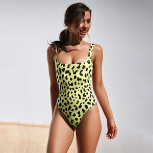 Wholesale 2019 New Sexy Bikini Set Leopard Print Swimsuit Women Snake Pattern Swim Bathing Suit High Leg Swimwear Female Sexy Bodysuit Monokini