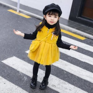 kids Coats jackets doudoune enfant children Winter baby imitation thickening girls quilted jacket hooded +bag infant toddler clothing on Sale