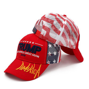 Wholesale 2020 Men Women Camouflage Baseball Hat Visor Trump MAGA Camo Embroidered Hat Keep Make America Great Again Cap Truck Driver Hats