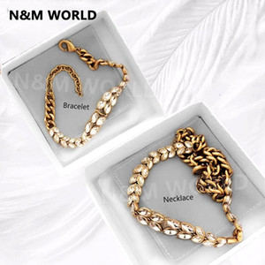 Wholesale Brand Bracelet Necklace Korean Summer Party Beach Jewelry Fashion Statement Earrings Necklace Women Girls Birthday Gift