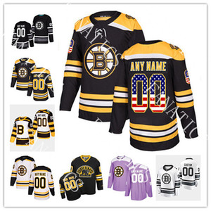 Wholesale 63 Brad Marchand Jersey Boston Bruins 88 David Pastrnak 37 Patrice Bergeron 46 David Krejci 74 Jake DeBrusk Mens Womens Youth Custom Jersey