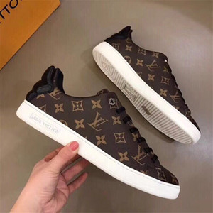 Wholesale top quality with box designer men women Genuine Leather Casual Shoes Brown LV Monogram Black ARCHLIGHT sneakers