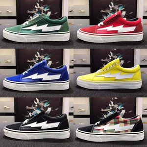 vans azuis venda por atacado-Vans Shoes cores Revenge Top X tempestade Old Skool Cavnas Casual Shoes Womens Homens Low Cut Red Azul Branco Preto Casual Sapatos
