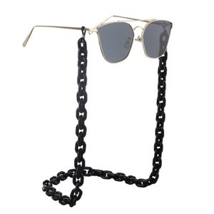 Wholesale Resin acrylic plastic black eyeglasses chain simple retro fashion environmental protection eyeglasses chain anti slip and anti loss