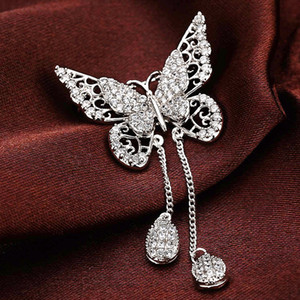 Wholesale luxury brooch designer brooches jewelry fashion zircon setting pins pearl brooches Titanium with silver plated for men and women NE999-3