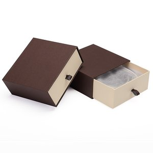 Wholesale Men s Belt Storage Box Brown Gift Packaging Box Organizer Drawer Shaped Wallet Box Case