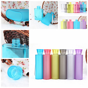 400ml Frosted Hip Flasks wine cup Creative Portable Bottle Food grade Plastic Outdoor portable Travel Mugs bottle 400ML FFA2844 on Sale