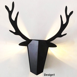 Modern Nordic Deer Horn Wall Lamp 3 Colors Bedroom Bedside Lamp Funny Birthday Gifts 1 Piece DHL