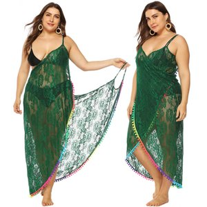 Wholesale Swim Cover Up Dresses Beachwear For Women Tunica Coverup Long Summer Saida De Praia Plus Size Cape Swimwear Outwear Sexy