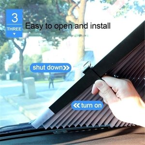 Wholesale car windshield shade cover resale online - Car Window Sunshade Retractable Windshield Sunshade Cover Anti UV Front Rear Window Foil Curtain Foldable Car Sun Shade