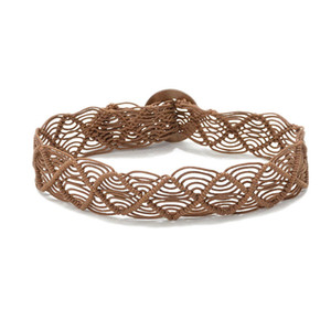 Wax rope Weaving belt Retro Pattern Waist chain Hand made waistband round Oil wood buckle Brown Beige classic 12 5glb C1