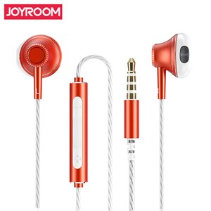 Wholesale JOYROOM JR E208 Earphones Metar Headphones Universal MM In Ear Earphone Headset with Mic For For Xiaomi Samsung LG