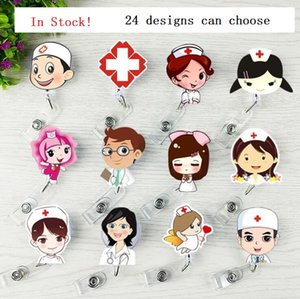 Wholesale Retractable Badge Reel Lanyard ID Card Badge Holder Key Chain Reels Anti Lost Clip Keep ID Key Cell Phone Safe School Office Supplies