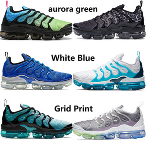 Wholesale New arrival aurora green PLUS TN top running shoes men women be true bleached aqua lemon lime grape mens trainers sneakers